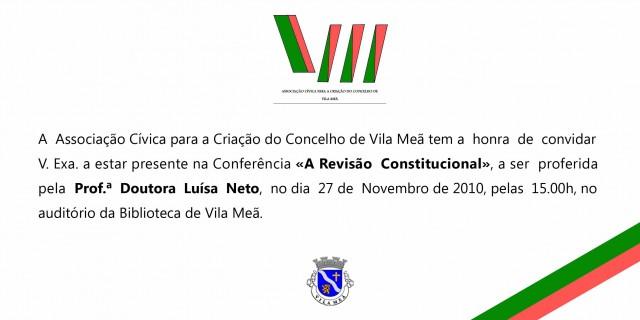 Conferência revisão constitucional