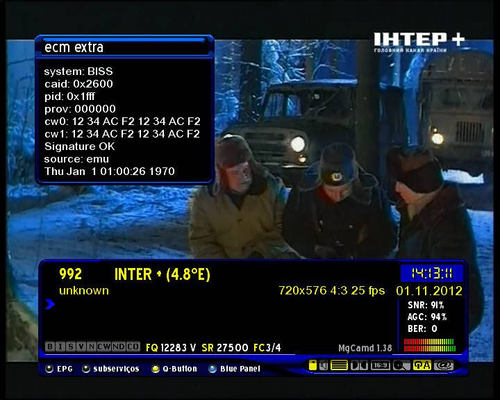 ������ ����� 01/2012 ���� ���� Inter+ biss keys 1�W 01/11/2012 -Inter+