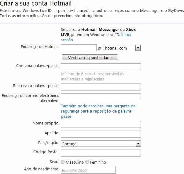 como criar email hotmail - photo #39