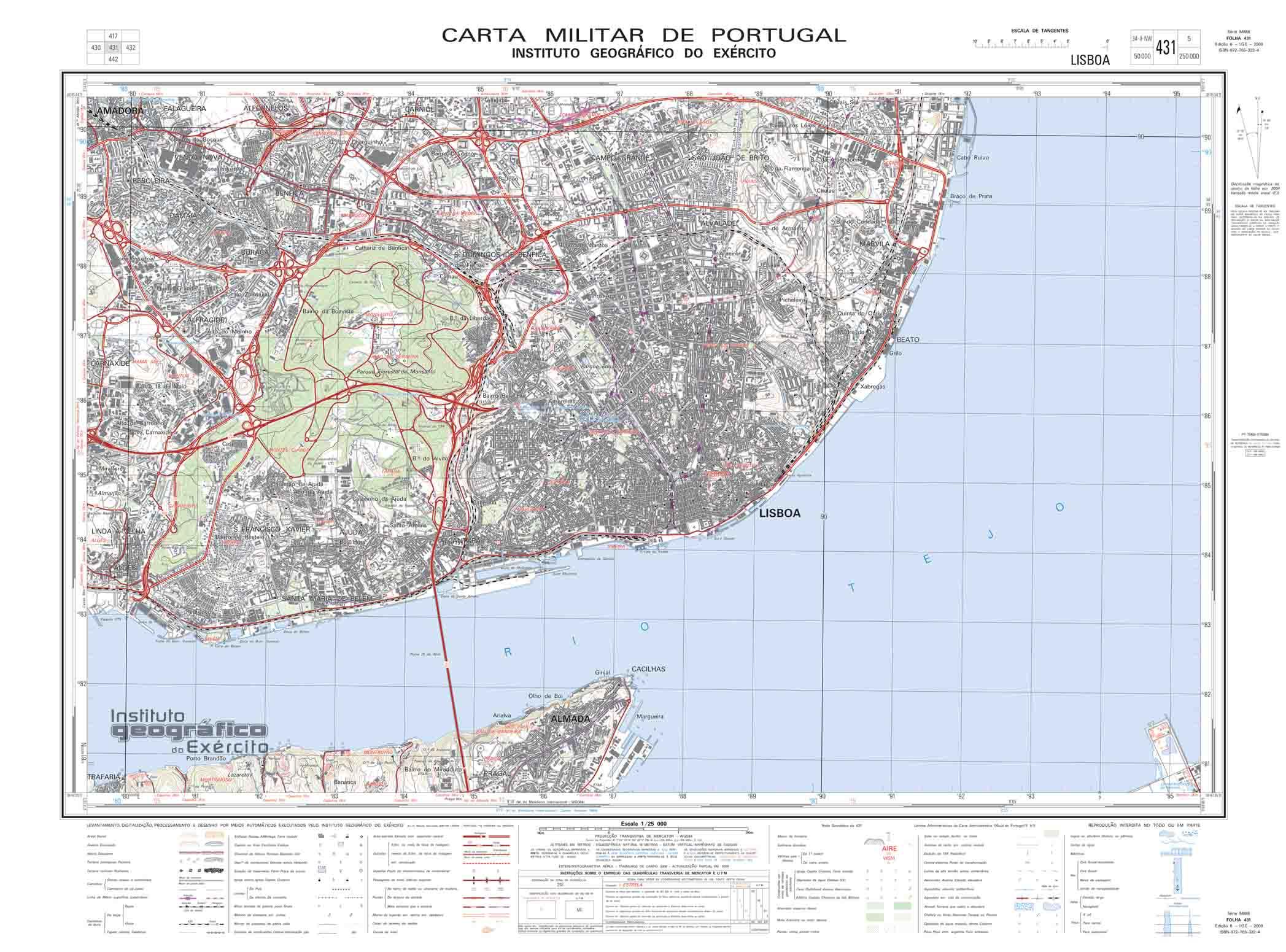 mapa topografico lisboa Cartografia Militar | Mapas Topográficos | Cartas Militares [ GPS ] mapa topografico lisboa